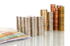 De kolommen van het geld Royalty-vrije Stock Foto's