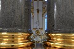 De kolommen van het graniet van het Paleis van de Winter Stock Foto's