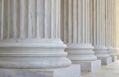 De kolommen van het Hooggerechtshof Royalty-vrije Stock Foto's