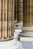 De kolommen van het Pantheon van Parijs stock afbeeldingen