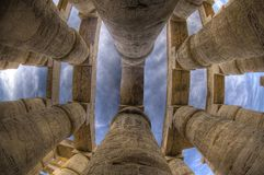 De Kolommen van Karnak stock fotografie