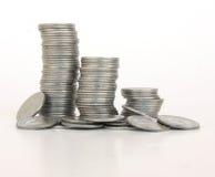 De kolommen van muntstukken Royalty-vrije Stock Fotografie