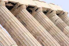 De Kolommen van Parthenon stock afbeeldingen
