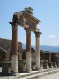 De Kolommen van Pompei Stock Afbeeldingen