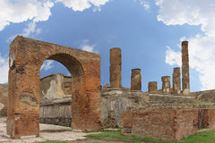 De kolommen van Pompei Stock Fotografie