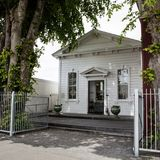 De koloniale bouw in Greytown, Wairarapa, Nieuw Zeeland Royalty-vrije Stock Fotografie