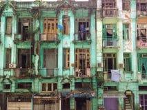 De koloniale bouw in Yangon, Myanmar Royalty-vrije Stock Afbeelding