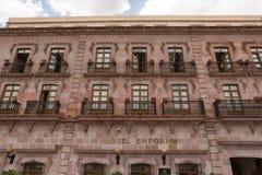 De koloniale stijl historische bouw in Zacatecas Mexico stock afbeeldingen