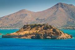 De kolonie van de lepralijder op Spinalonga eiland, Kreta Royalty-vrije Stock Foto