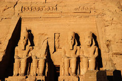 De kolos van Simbel van Abu, Egypte, Afrika Stock Fotografie