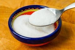 De kom en de lepel van de suiker Royalty-vrije Stock Afbeeldingen