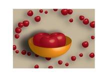 De kom van appelen Stock Foto's
