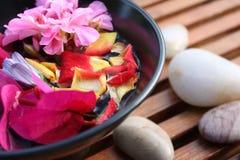 De Kom van de Bloem van Aromatherapy stock foto