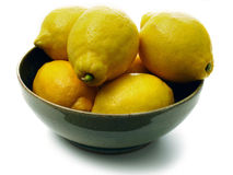 De kom van de citroen Stock Foto's