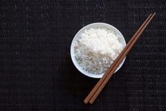 De kom van de rijst met karbonadeoogsten Royalty-vrije Stock Fotografie