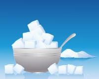 De kom van de suiker Royalty-vrije Stock Afbeeldingen