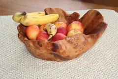 De Kom van het oma` s Fruit stock afbeeldingen