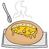 De kom van het soepbrood Royalty-vrije Stock Afbeelding