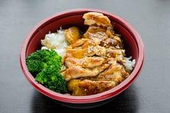 De Kom van kippenteriyaki royalty-vrije stock afbeeldingen