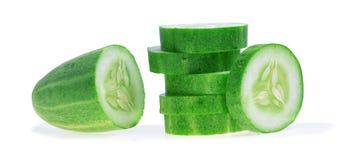 De komkommer isoleerde witte achtergrond Stock Fotografie