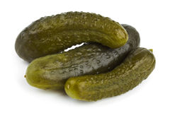 De komkommer van groenten in het zuur Royalty-vrije Stock Foto's