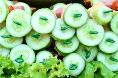 De komkommerplak van de stok Stock Afbeeldingen