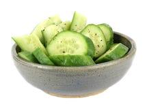De Komkommers van de kom Stock Afbeeldingen