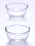 De kommen van het glas Stock Foto