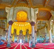 De komplexa dekorerna av Abu al-Abbas al-Mursi Mosque, Alexandria, Arkivbilder