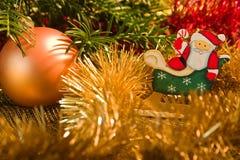 De komst van de kerstman Stock Fotografie