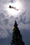 De komst van de kerstman Stock Foto