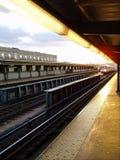 De Komst van de trein royalty-vrije stock afbeelding