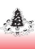 De komst van Kerstmis Stock Afbeeldingen