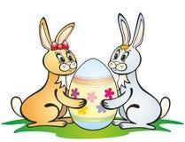 De konijnen van Pasen Stock Afbeeldingen