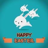 De konijnen van Pasen het lopen Royalty-vrije Stock Afbeelding