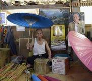 DE KONING BHUMIBOL VAN AZIË THAILAND CHIANG MAI Stock Afbeeldingen