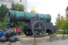 De Koning Cannon in Moskou het Kremlin De Plaats van de Erfenis van de Wereld van Unesco Stock Afbeeldingen