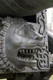 De Koning Cannon van het tsaarkanon in Moskou het Kremlin, leeuwhoofd Stock Afbeelding