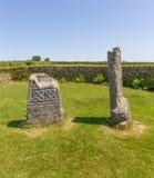 De koning Donierts Stone Bodmin legt Cornwall Engeland vast Stock Afbeelding