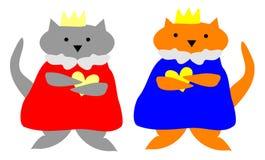 De Koning en de Koningin van de kat Stock Foto's