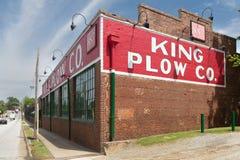 De Koning Plow die van 1902 op Atlanta ` s Westside voortbouwen Stock Afbeeldingen