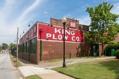 De Koning Plow die van 1902 op Atlanta ` s Westside voortbouwen Royalty-vrije Stock Foto