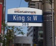 De Koning Street West van Toronto royalty-vrije stock afbeelding