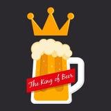 De Koning van Biersymbool Stock Fotografie