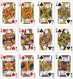 De koning van de de hefboomkoningin van speelkaarten 62x90 mm Royalty-vrije Stock Foto
