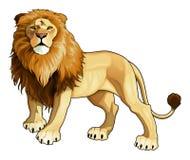 De koning van de leeuw. royalty-vrije illustratie