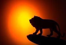 De koning van dierensilhouet Royalty-vrije Stock Afbeeldingen