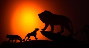 De koning van dierensilhouet Royalty-vrije Stock Foto's