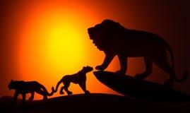 De koning van dierensilhouet Stock Foto