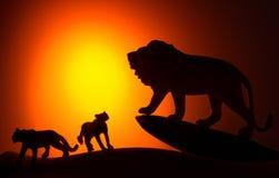De koning van dierensilhouet Royalty-vrije Stock Foto